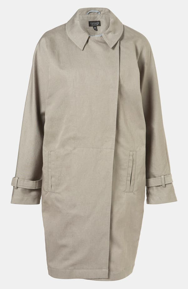 Alternate Image 1 Selected - Topshop Dolman Sleeve Asymmetric Trench
