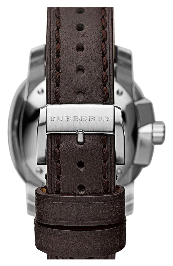 Alternate Image 3  - Burberry The Britain Leather Strap Watch