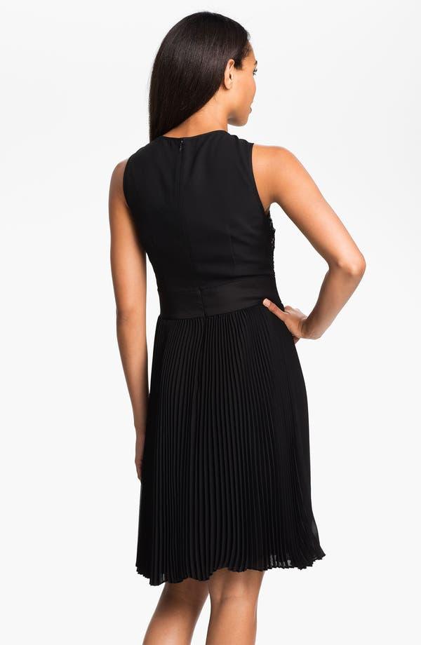 Alternate Image 2  - Eliza J Sequin Bodice Pleated Fit & Flare Dress