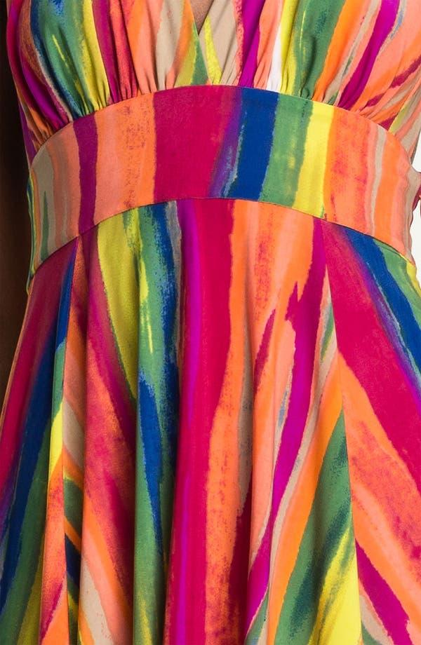 Alternate Image 3  - Abi Ferrin 'Gloria' Print Jersey Fit & Flare Halter Dress