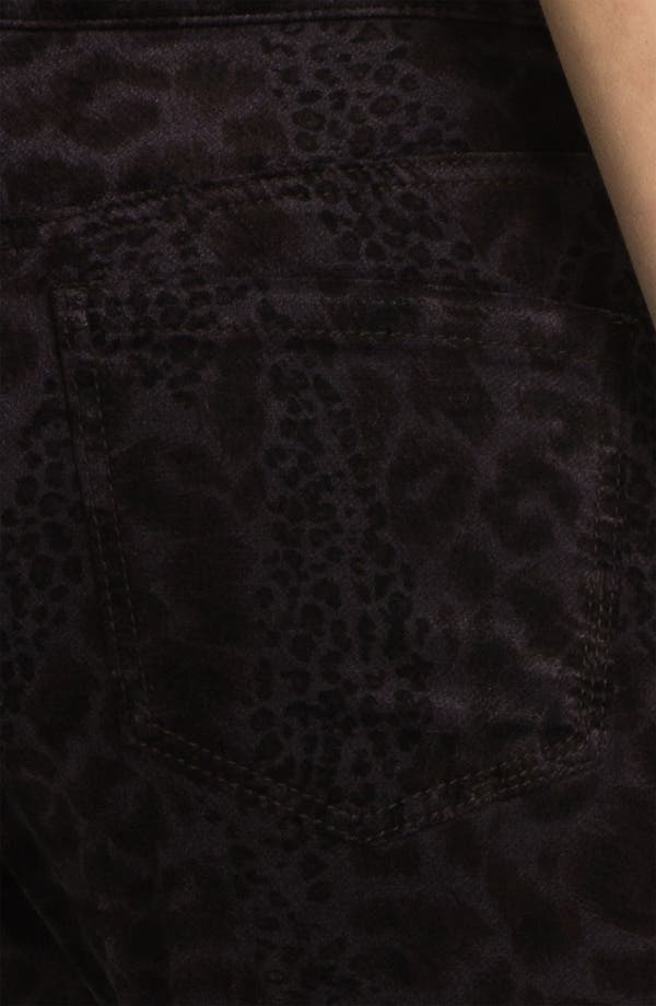 Alternate Image 3  - Liverpool Jeans Company 'Sadie' Print Straight Leg Velveteen Jeans