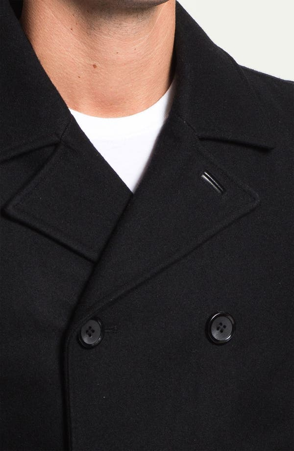 Alternate Image 3  - Black Rivet Double Breasted Peacoat