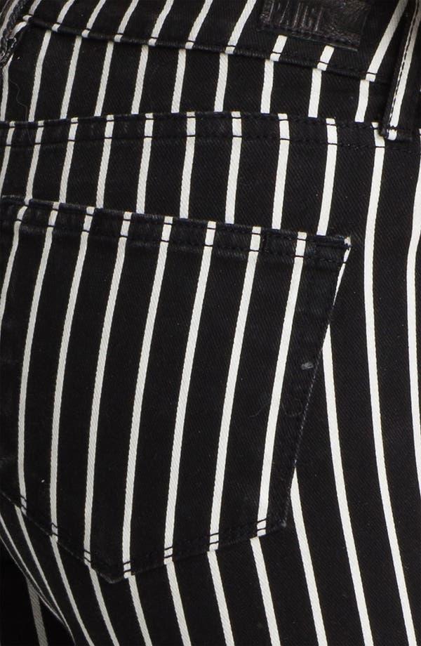 Alternate Image 3  - Paige Denim 'Skyline' Skinny Stretch Ankle Jeans (Black/White)