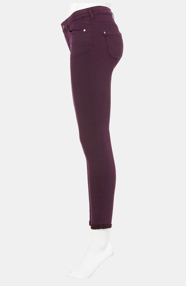 Alternate Image 4  - Topshop Moto 'Leigh' Skinny Jeans (Bordeaux)
