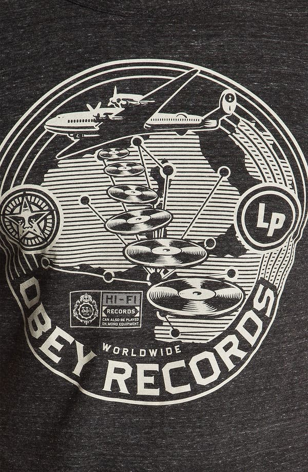 Alternate Image 3  - Obey 'Hi-Fi Records' Graphic Crewneck T-Shirt