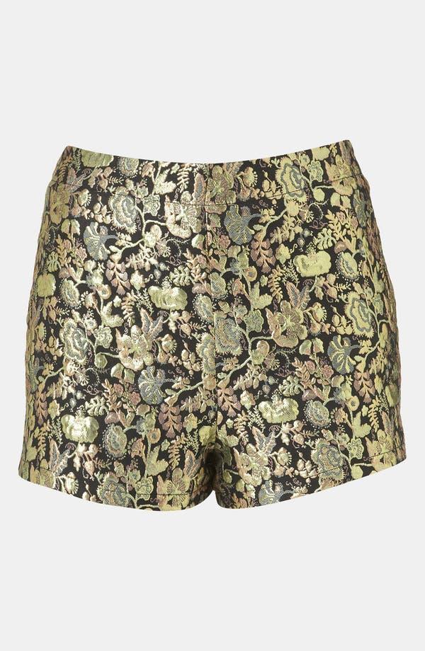 Main Image - Topshop Metallic Jacquard Shorts