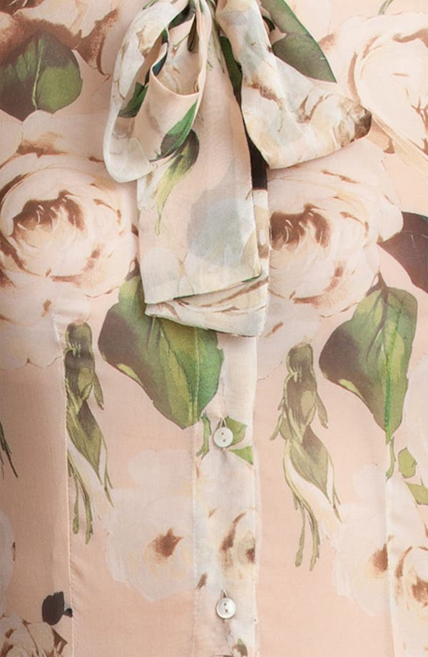 Alternate Image 5  - Dolce&Gabbana Rose Print Chiffon Blouse