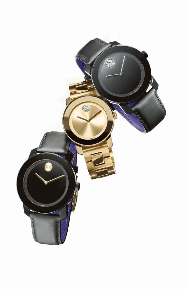Alternate Image 2  - Movado 'Large Bold' Swarovski Crystal Marker Watch, 43mm
