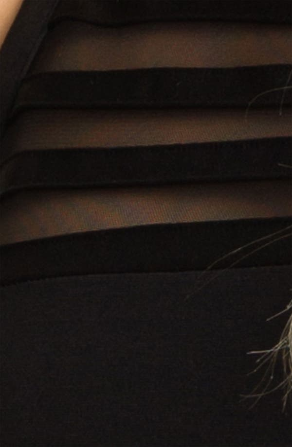 Alternate Image 3  - BB Dakota 'Sorina' Illusion Yoke Ponte Sheath Dress