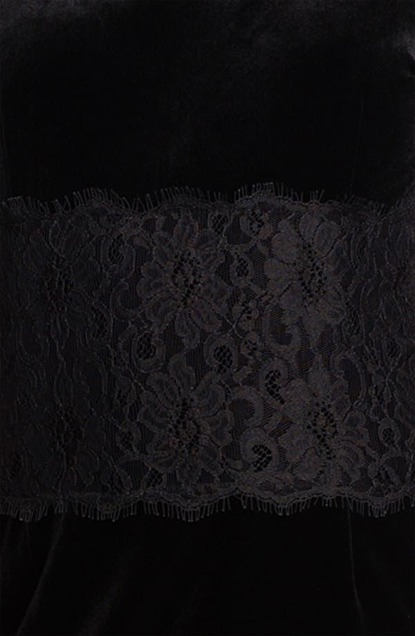 Alternate Image 3  - Donna Morgan Lace Inset Velour Sheath Dress