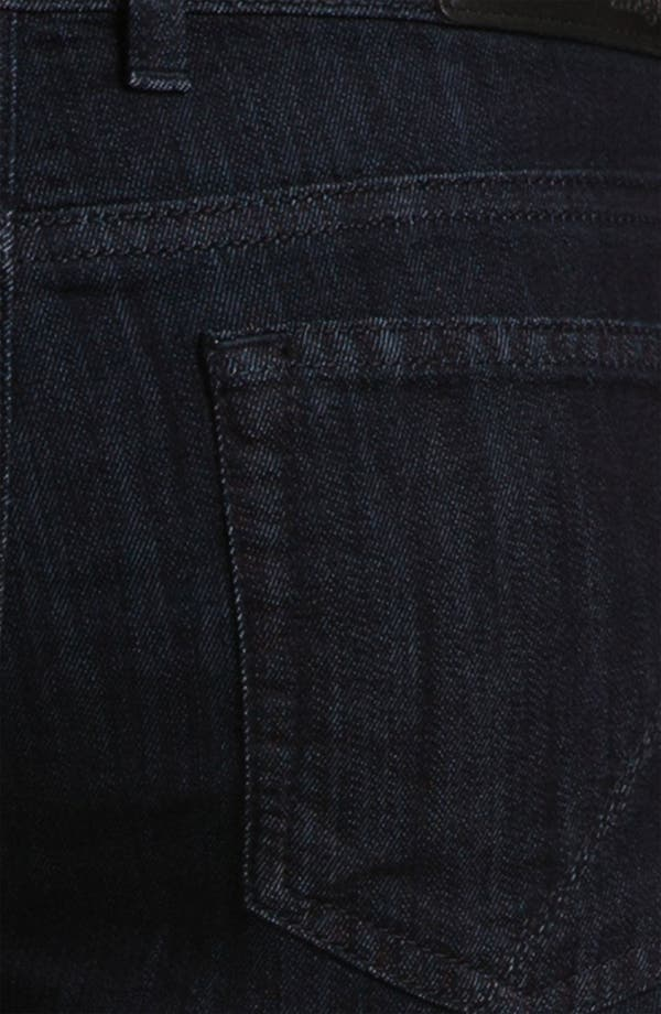 Alternate Image 4  - Z Zegna Straight Leg Jeans (Black)