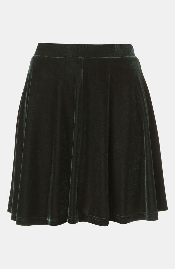 Alternate Image 1 Selected - Topshop Velour Skater Skirt