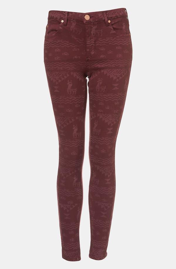 Alternate Image 1 Selected - Topshop Moto 'Leigh' Andean Print Skinny Jeans