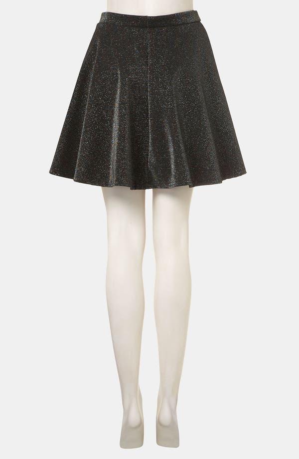 Alternate Image 2  - Topshop Glitter Skater Skirt