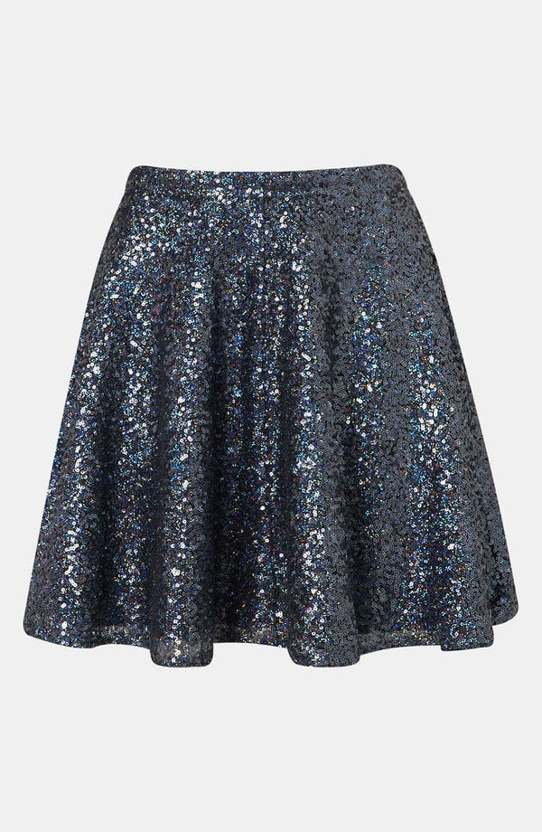 Main Image - Topshop Sequin Skater Skirt