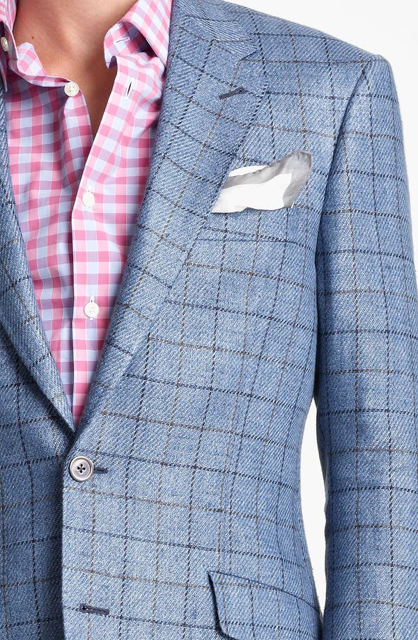 Alternate Image 3  - Paul Smith London Linen Cotton Plaid Sportcoat