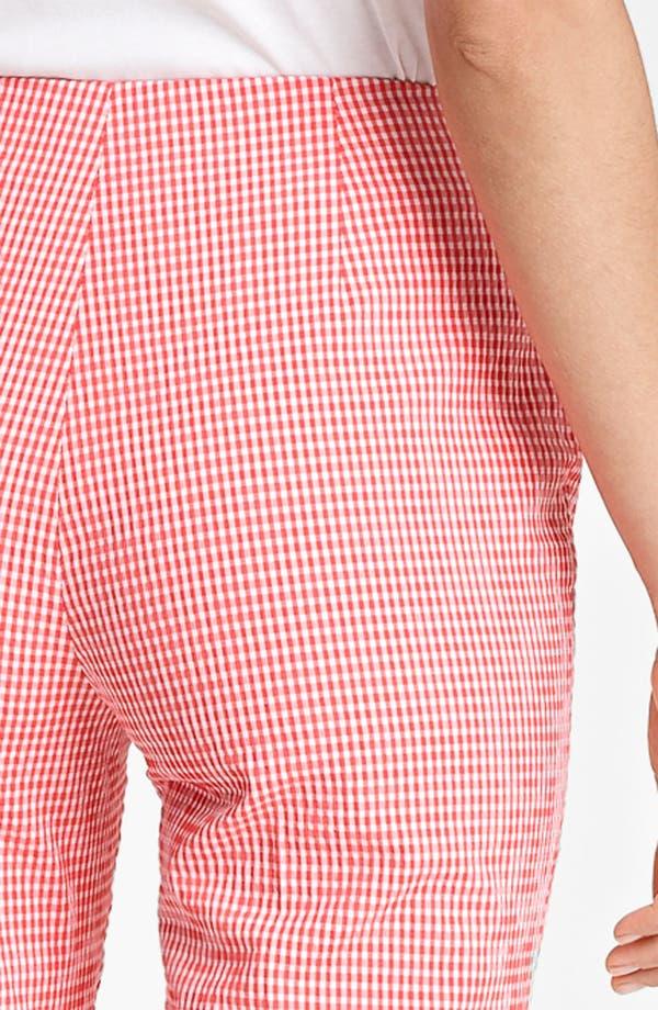 Alternate Image 3  - Piazza Sempione 'Audrey' Gingham Stretch Cotton Pants