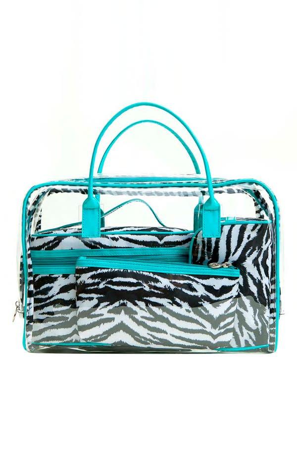 Alternate Image 4  - Tricoastal Design 'Zebra' Cosmetics Bag Set