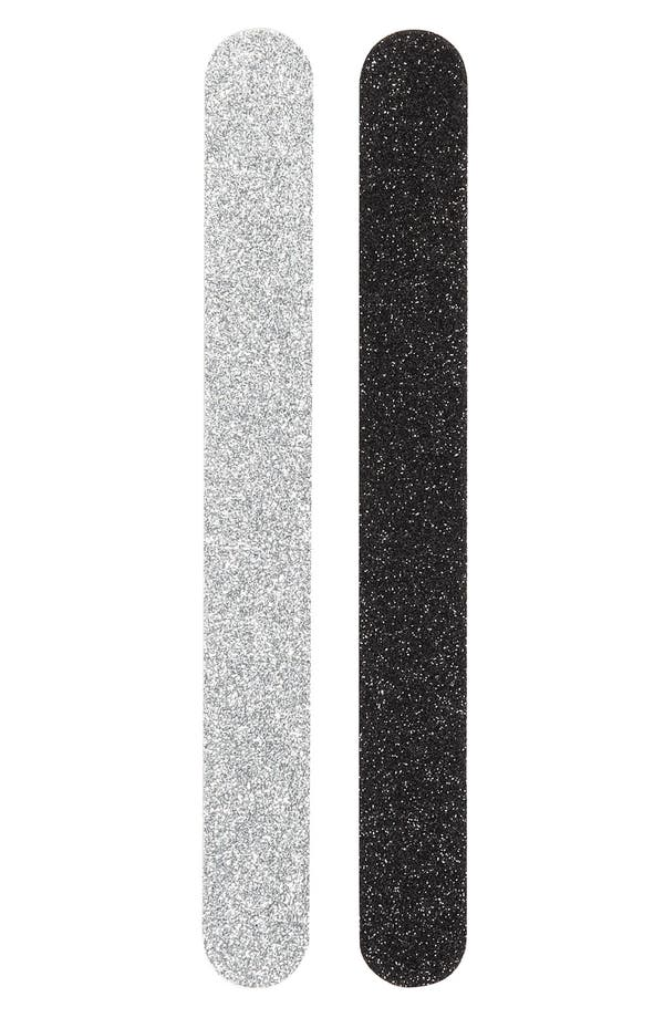 Alternate Image 1 Selected - Nordstrom 'Black & Silver' Nail Files (2-Piece)