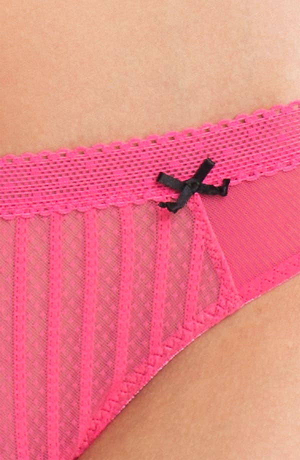 Alternate Image 2  - Betsey Johnson 'Stocking Stripe' Thong