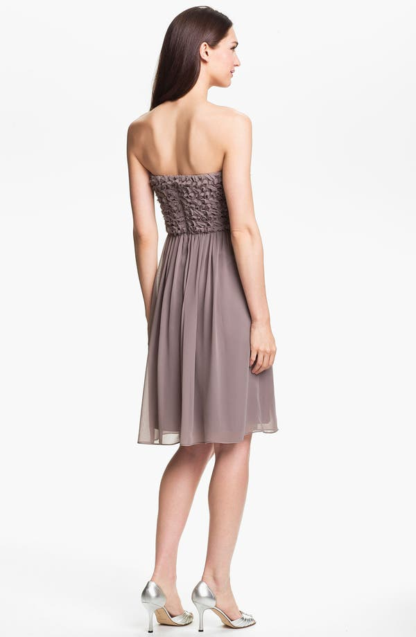 Alternate Image 2  - Calvin Klein Strapless Rosette Bodice Chiffon Dress (Online Only)