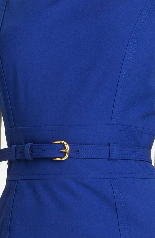Alternate Image 3  - Tahari Cap Sleeve Belted Sheath Dress (Petite)