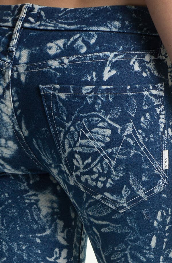 Alternate Image 3  - MOTHER 'The Looker' Print Ankle Zip Skinny Jeans (Flowers in the Forest)