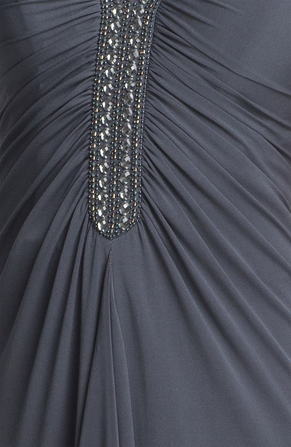 Alternate Image 3  - JS Boutique Beaded Ruched Jersey Gown