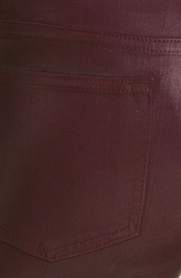 Alternate Image 3  - Rich & Skinny 'Legacy Leather' Faux Leather Skinny Jeans (Oxblood)