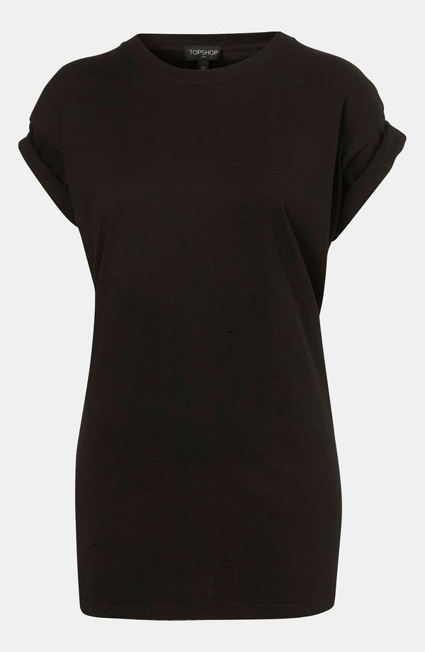 Main Image - Topshop Oversized Roll Sleeve Tee