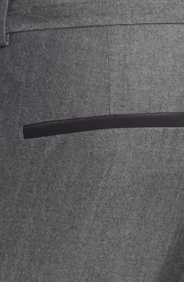 Alternate Image 3  - HUGO 'Helbos' Flat Front Wool Blend Tuxedo Pants