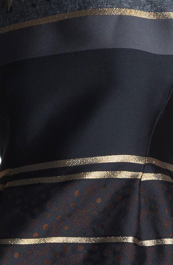 Alternate Image 3  - Victoria, Victoria Beckham Stripe Jacquard Dress