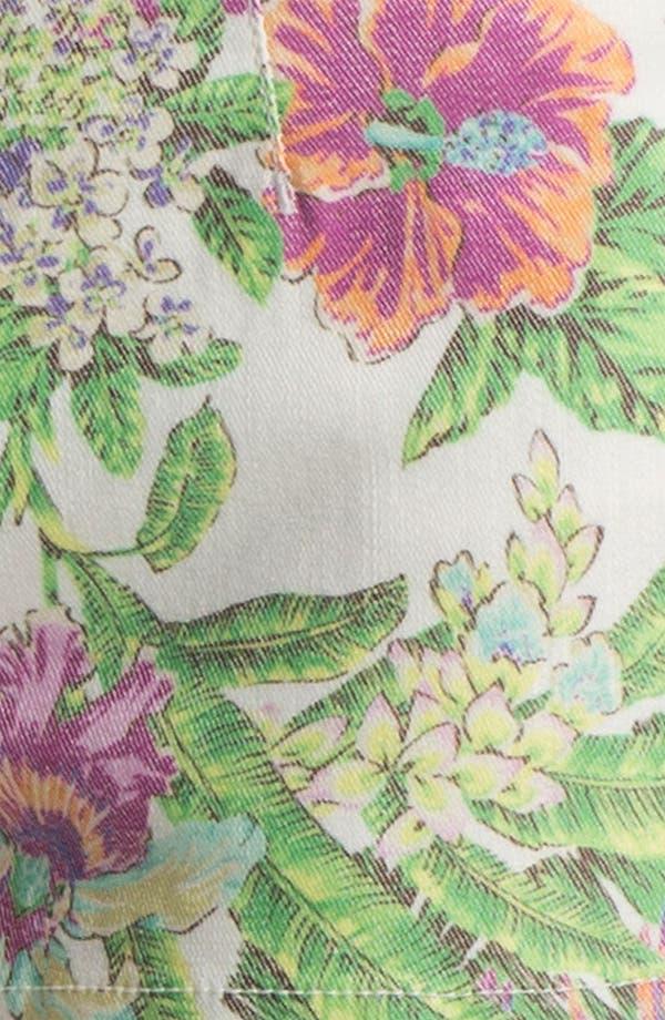 Alternate Image 3  - Fire 'Tropical' Print High Waist Shorts (Juniors)