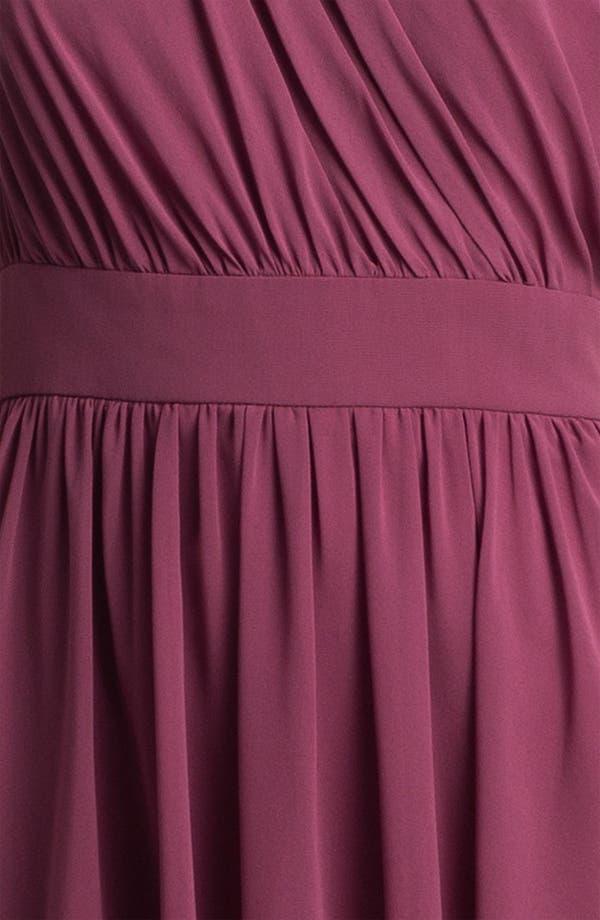 Alternate Image 3  - Suzi Chin for Maggy Boutique One Shoulder Chiffon Dress