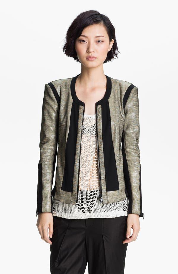 Alternate Image 2  - Helmut Lang 'Rift' Stretch Leather Jacket