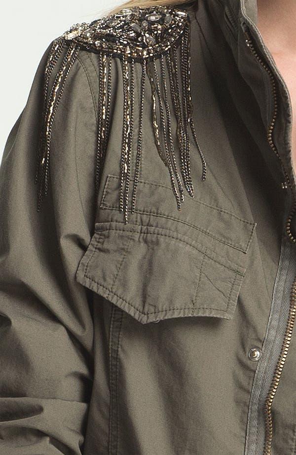 Alternate Image 5  - Haute Hippie Sequin Shoulder Military Jacket