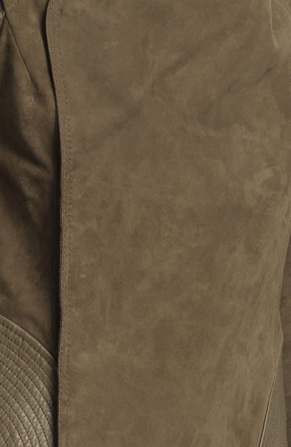 Alternate Image 6  - Edun Double Breasted Leather & Suede Jacket