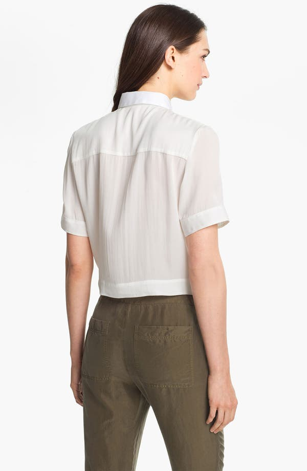 Alternate Image 2  - Theory 'Ebele C.' Crop Shirt