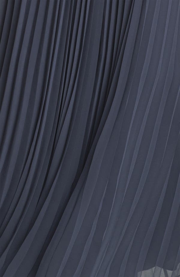 Alternate Image 3  - Halston Heritage Pleated Chiffon Gown