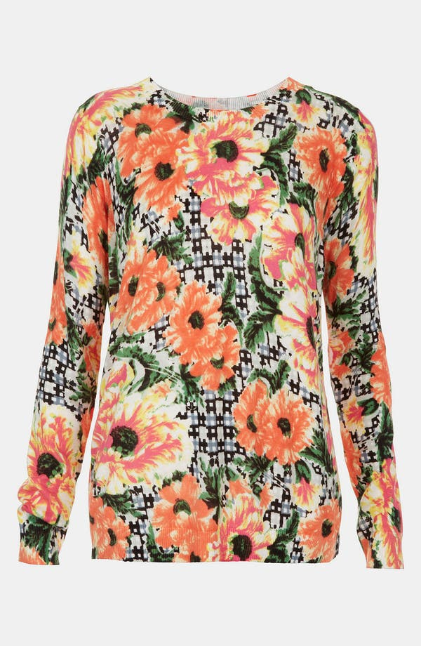 Alternate Image 1 Selected - Topshop Floral Print Sweater
