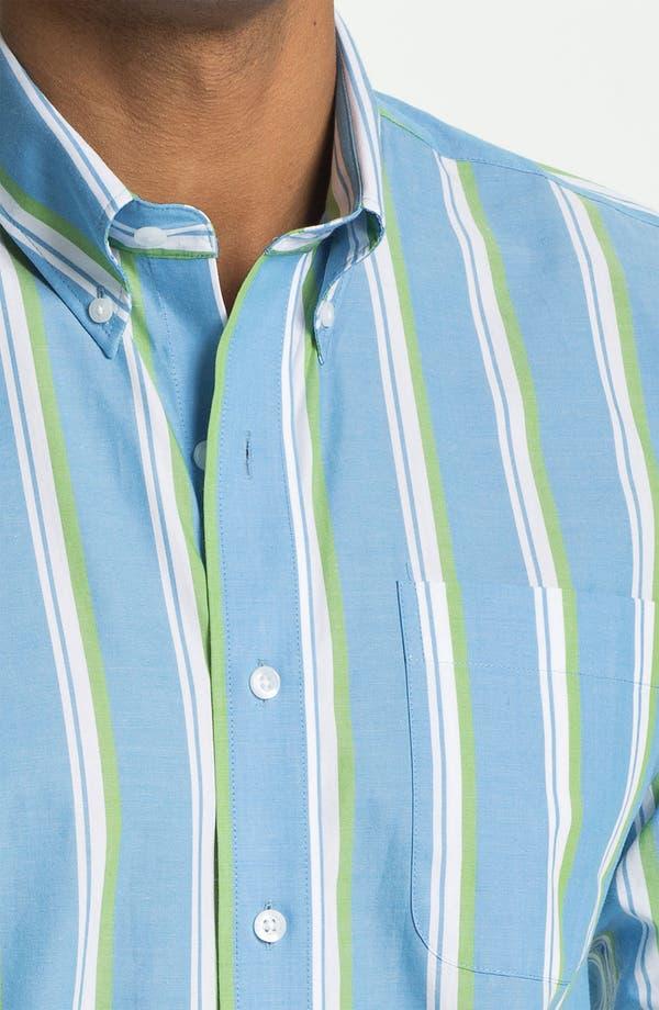 Alternate Image 3  - Cutter & Buck 'Whitmire Stripe' Regular Fit Sport Shirt (Big & Tall)