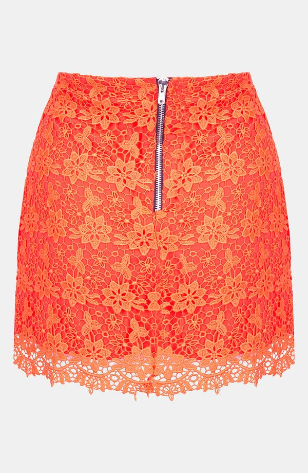 Alternate Image 2  - Topshop Fluorescent Lace Skirt