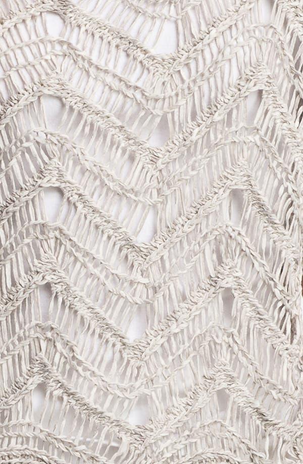 Alternate Image 3  - Eileen Fisher Bateau Neck Open Stitch Sweater