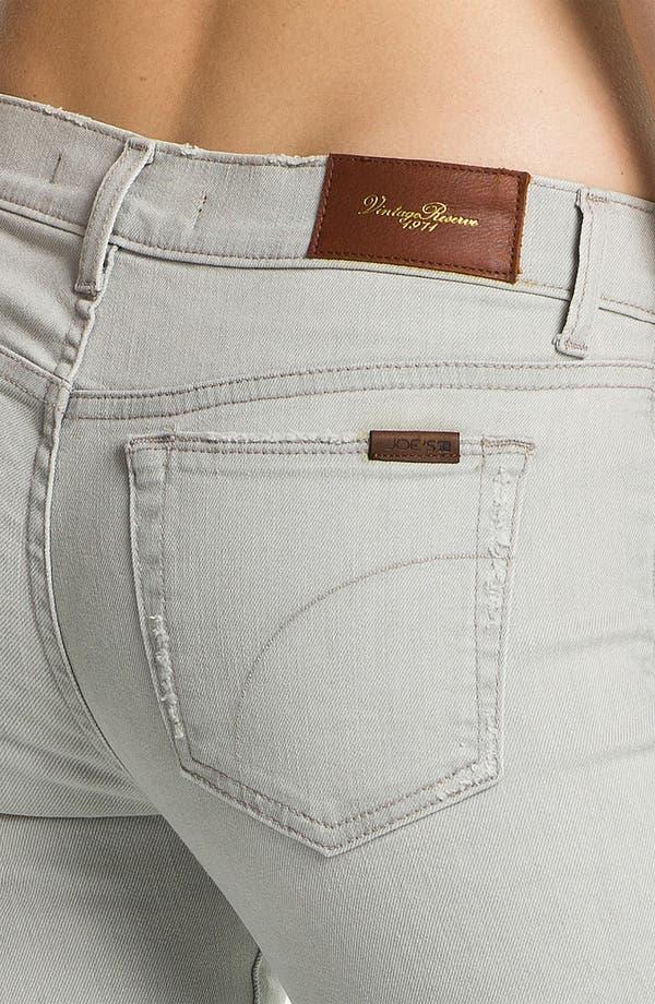Alternate Image 3  - Joe's 'Cigarette' Straight Leg Stretch Jeans (Light Grey)