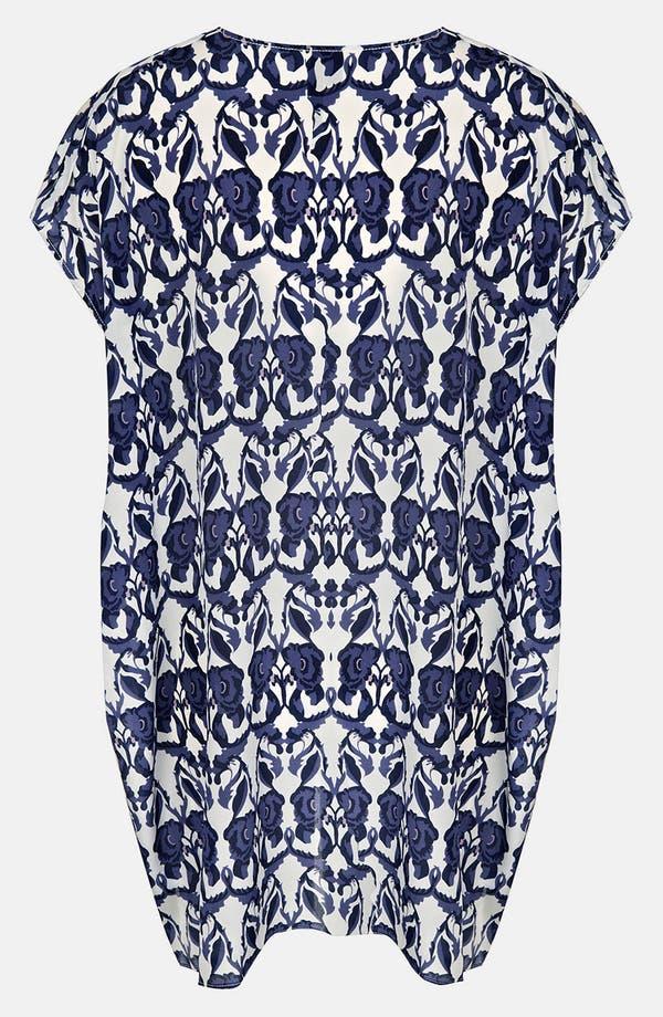 Alternate Image 2  - Topshop Floral Print Silk Tunic