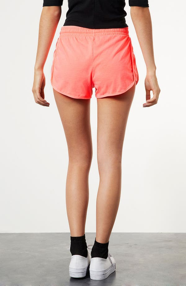Alternate Image 2  - Topshop Neon Running Shorts