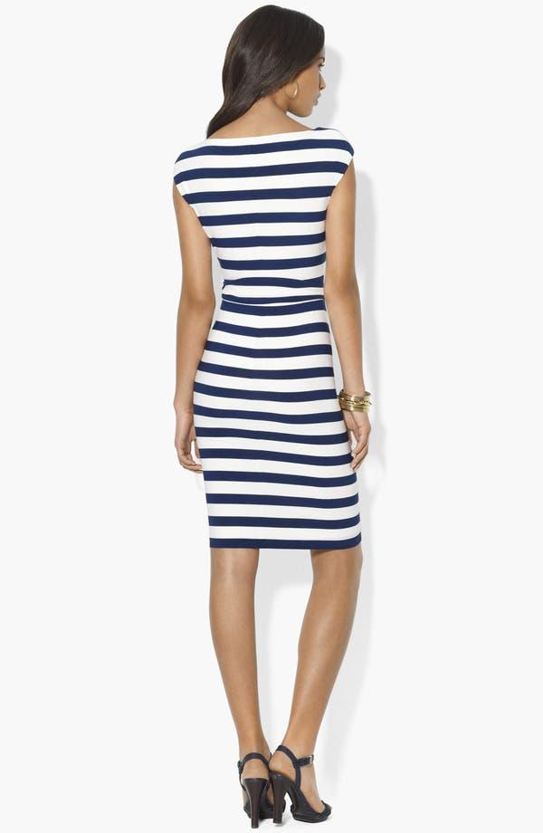 Alternate Image 2  - Lauren Ralph Lauren Stripe Jersey Dress