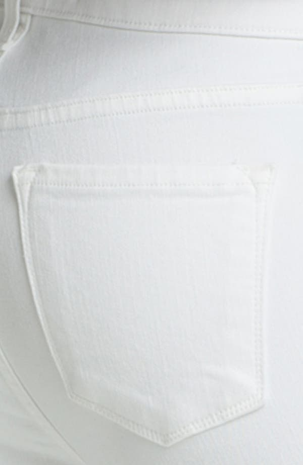 Alternate Image 3  - J Brand Straight Leg Stretch Maternity Jeans (Blanc)