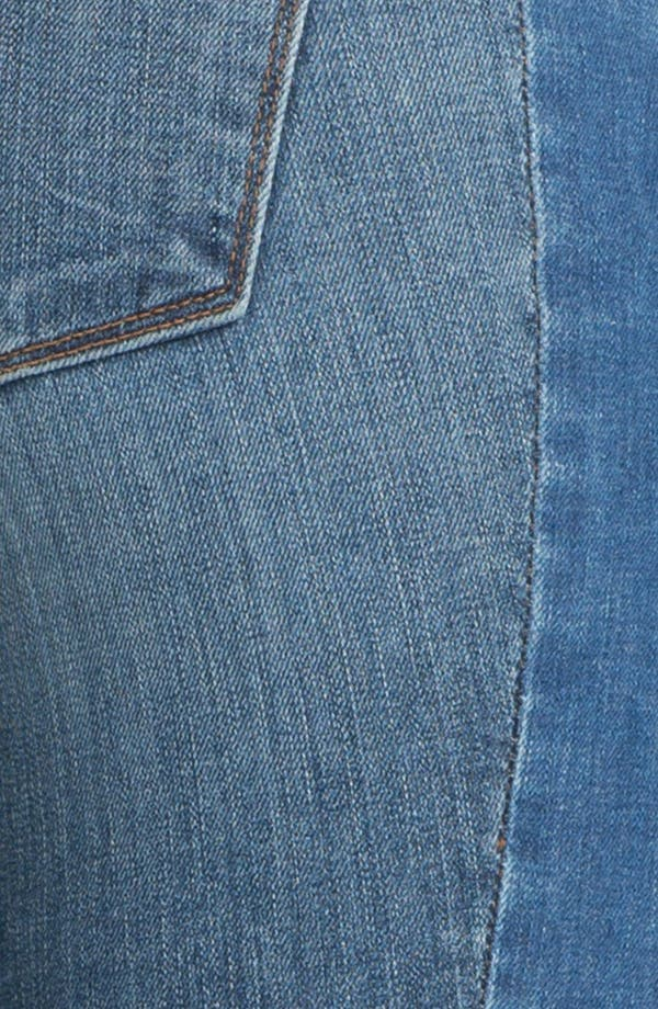 Alternate Image 3  - J Brand Two-Tone Tux Stripe Skinny Jeans (Bliss)