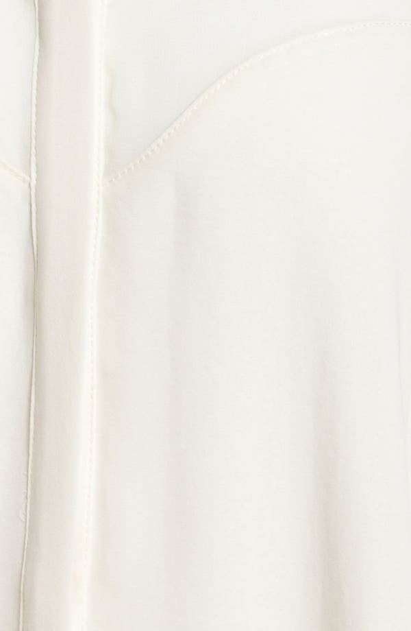 Alternate Image 3  - ASTR Cutout Sheer Panel Shirt